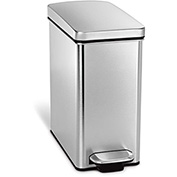 simplehuman® Profile Step Can - 2-3/5 Gallon Brushed SS