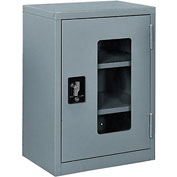 Global™ Clear View Wall Storage Cabinet Assembled 18x12x26 Gray