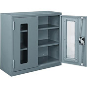 Global™ Clear View Wall Storage Cabinet Assembled 30x12x30 Gray