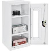 "Global™ Clear View Wall Storage Cabinet Assembled 13-3/4""W x 12-3/4""D x 30""H Off White"