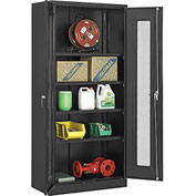 Global™ Storage Cabinet With Expanded Metal Door Unassembled  36x18x78 Black