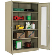 "Global™ Storage Cabinet With Expanded Metal Door Unassembled 48""W x 24""D x 78""H Tan"