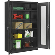 Global™ Storage Cabinet With Expanded Metal Door Unassembled  48x24x78 Black