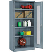 Global™ Storage Cabinet With Expanded Metal Door Assembled  36x18x78 Gray