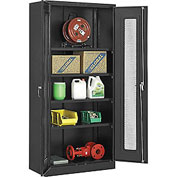 Global™ Storage Cabinet With Expanded Metal Door Assembled  36x18x78 Black