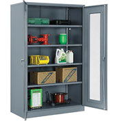 Global™ Storage Cabinet With Expanded Metal Door Assembled  48x24x78 Gray