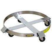 Wesco® Stainless Steel Drum Dolly 240198 85 Gallon Zinc Rigs Hard Rubber