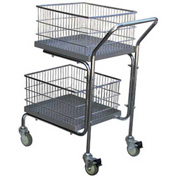 Vestil Portable Mail Cart MAIL-55 2 Shelf 200 Lb. Capacity