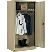 Global™ Wardrobe Cabinet Easy Assembly 36x24x72 Tan