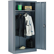 Global™ Wardrobe Cabinet Assembled 36x18x72 Gray