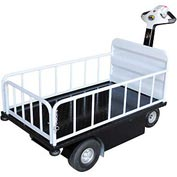 Vestil 1 Shelf Battery Powered Traction Drive Platform Truck NE-CART-2 750 Lb.