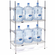 5 Gallon Water Bottle Storage Rack, 6 Bottle Capacity