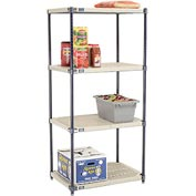 Vented Plastic Shelving 30x21x63 Nexelon Finish