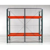 "Wirecrafters - RackBack® Wire Mesh Pallet Rack Enclosure - Back Panel 144""W x48"""