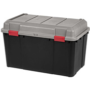 IRIS 139817 Tote Truck, 138 Qt, Black With Gray Lid - Pkg Qty 3