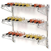 "Wine Bottle Rack - Wall Mount 27 Bottle 36"" x 14"" x 34"""