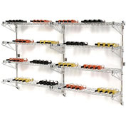 "Wine Bottle Rack - Wall Mount 104 Bottle 48"" x 14"" x 54"""