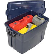 United Solutions 2162 Roughneck Tote  Latching 35 Gallon Dark Blue w/Metallic - Pkg Qty 6