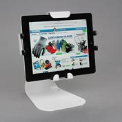 Peerless® Universal Desktop Tablet Mount With Standard Hardware, White