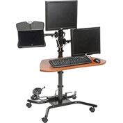 "Balt® 90329 WOW Flexi-Desk Mobile Workstation, 46-1/2""H x 31-1/2""W x 26-1/2""D"