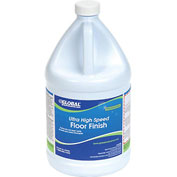 Global® Ultra High Speed Floor Finish - Case Of Four 1 Gallon Bottles
