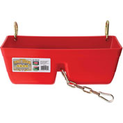 Little Giant Fence Feeder W/Metal Clips & Chain Ff16red, Polyethylene, 7.75 Qt., Red - Pkg Qty 3