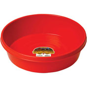 Little Giant Feed Pan P3red, Duraflex Plastic, 3 Gal., Red
