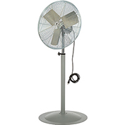 TPI 292261,24 Inch Pedestal Fan Non Oscillating 1/3 HP 4300 CFM 1 PH Totally Enclosed Motor