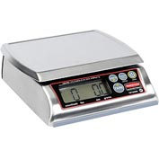 "Digital Washable Stainless Steel Portion Scale 12lb x 0.005lb 7-1/8"" x 8-3/8"" Platform"
