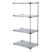 60x24x86 Galvanized Steel Solid Shelving Add-On