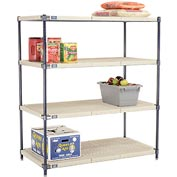 Vented Plastic Shelving 48x21x54 Nexelon Finish