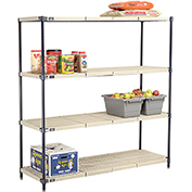 Vented Plastic Shelving 60x21x63 Nexelon Finish