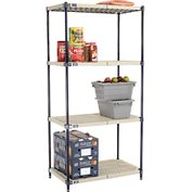 Vented Plastic Shelving 36x21x74 Nexelon Finish