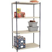 Vented Plastic Shelving 42x21x74 Nexelon Finish