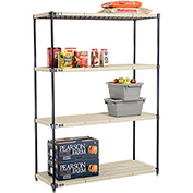 Vented Plastic Shelving 54x21x74 Nexelon Finish