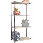 Vented Plastic Shelving 42x18x86 Nexelon Finish