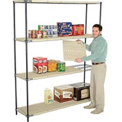 Vented Plastic Shelving 72x18x86 Nexelon Finish