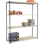 Vented Plastic Shelving 72x21x86 Nexelon Finish