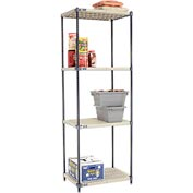 Vented Plastic Shelving 30x24x86 Nexelon Finish