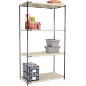 Vented Plastic Shelving 48x24x86 Nexelon Finish
