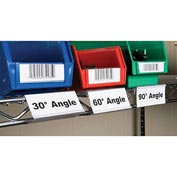 "Angle-Vu WRS1253 Label Holder, Wire Shelving 3""W x 1-1/4""H (25 pcs/pkg)"