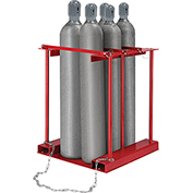 Forkliftable Cylinder storage Caddy, Stationary For 6 Cylinders