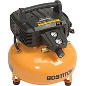 Bostitch BTFP02012, 6.0 Gallon Pancake Compressor, Oil-Free, 150 PSI, 2.6 CFM