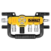 "DeWALT D55040 Quadraport Air Line Splitter With Regulator & 1/4"" Couplers"