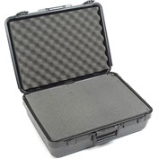 "Plastic Protective Storage Cases with Pinch Tear Foam, 19""x14""x6"", Black"