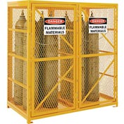 Cylinder Storage Cabinet Double Door Vertical, 18 Cylinder Capacity