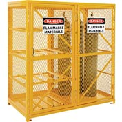 Cylinder Storage Cabinet Double Door Combo, 8 Horizontal/9 Vertical Cylinders