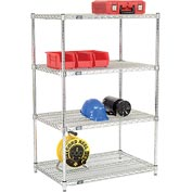 Quick Adjust Wire Shelving 36 x 24 x 54 - Poly-Z-Brite