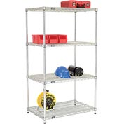 Quick Adjust Wire Shelving 36 x 24 x 63 - Poly-Z-Brite