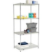 Quick Adjust Wire Shelving 36 x 24 x 74 - Poly-Z-Brite